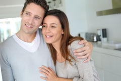 Couple at home Royalty Free Stock Images