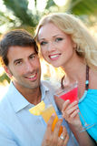Couple in honeymoon Royalty Free Stock Images