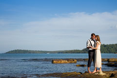 Couple in the honeymoon Royalty Free Stock Images