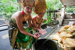 Couple at honeymoon in Balinese tradition Stock Photography