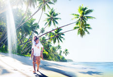 Couple Honeymoon Tropical Beach Romantic Concept.  Royalty Free Stock Photography