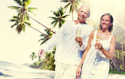 Couple Honeymoon Tropical Beach Romantic Concept Royalty Free Stock Photography