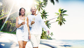 Couple Honeymoon Tropical Beach Romantic Concept Royalty Free Stock Photos