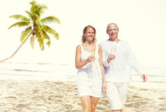 Couple Honeymoon Tropical Beach Romantic Concept Royalty Free Stock Photo