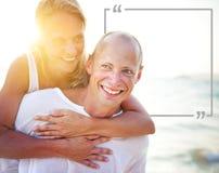 Couple Honeymoon Tropical Beach Romantic Concept.  Royalty Free Stock Images