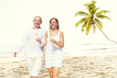 Couple Honeymoon Tropical Beach Romantic Concept.  Stock Photography