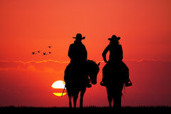 Couple on horse Royalty Free Stock Image