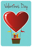 Couple in hot air balloon Valentines day Stock Photography