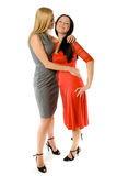 Couple of hot ladies. Isolated Royalty Free Stock Photos