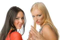 Couple of hot ladies Royalty Free Stock Photos