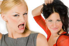Couple of hot ladies Royalty Free Stock Image