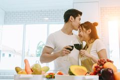 Couple in the house. royalty free stock image