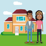 couple with house home image Stock Photos