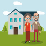 couple with house home image Royalty Free Stock Photos