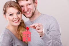 Couple with house keys. Stock Photo
