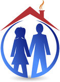 Couple house logo Stock Photography