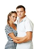 Couple hugging Stock Images
