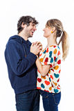 Couple hugging. Couple expressing their love and hugging Stock Photography
