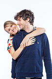 Couple hugging Stock Photo