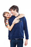 Couple hugging. Couple expressing their love and hugging Stock Images