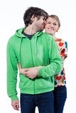 Couple hugging. Couple smiling and expressing their love Royalty Free Stock Images