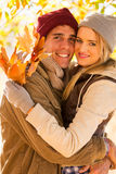 Couple hugging in autumn Stock Image