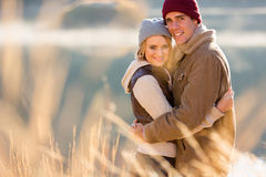 Couple hugging autumn Royalty Free Stock Photo