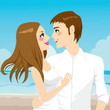 Couple Hugging On Beach Royalty Free Stock Photo