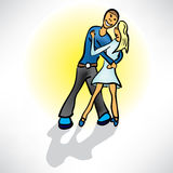 Couple hugging in a dance Stock Photo