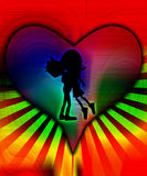 Happy Hug Of Love With Colour Stock Photography