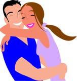 Couple, Hugging, Laugh, Smile, Girl Stock Photo