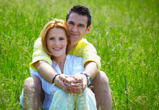 Couple hugging outdoor Stock Images