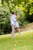 Couple hugging park Royalty Free Stock Photography