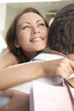 Couple Hugging Shopping Royalty Free Stock Photos