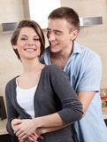 Couple hugs one another Royalty Free Stock Photo