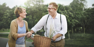 Couple Husband Wife Cheerful Caucasian Romantic Concept Stock Images