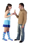 Couple with ice cream Stock Images