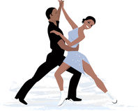 Couple ice dancing Stock Photos