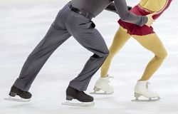 Couple of ice skating. A couple of ice skating Stock Photo