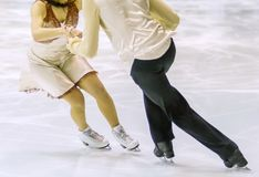 Couple of ice skating. A couple of ice skating Royalty Free Stock Photos