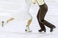 Couple of ice skating. A couple of ice skating Stock Photos