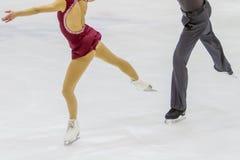 Couple of ice skating. A couple of ice skating Royalty Free Stock Photos