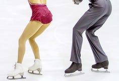 Couple of ice skating. A couple of ice skating Stock Photography