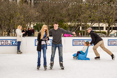 Couple Ice Skating stock images