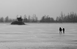 Couple on the ice Stock Photography