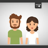 Couple icon design Royalty Free Stock Image