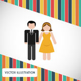 Couple icon design Royalty Free Stock Photography