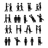 Couple icons Royalty Free Stock Photos