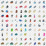 100 couple icons set, isometric 3d style. 100 couple icons set in isometric 3d style for any design vector illustration Royalty Free Stock Image