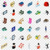 Couple icons set, isometric style. Couple icons set. Isometric style of 36 couple vector icons for web for any design vector illustration